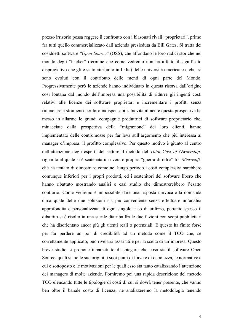 Anteprima della tesi: Total cost of ownership: una comparazione Office - Open Office, Pagina 2