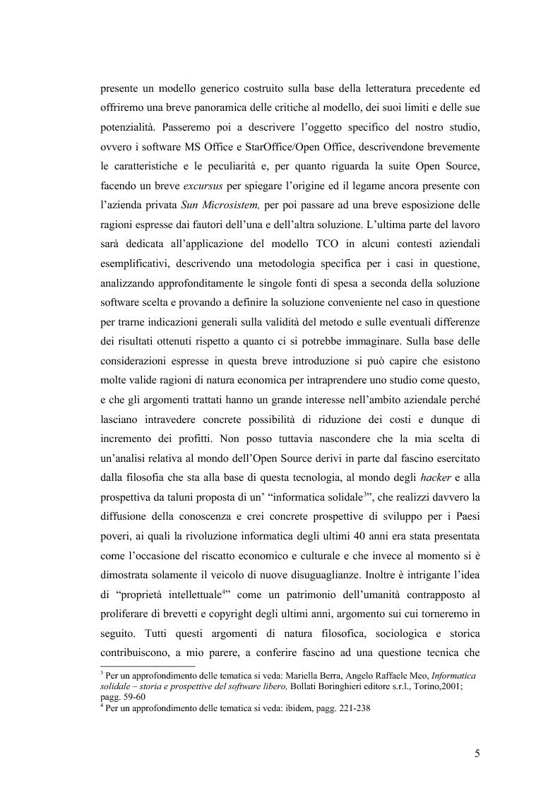 Anteprima della tesi: Total cost of ownership: una comparazione Office - Open Office, Pagina 3
