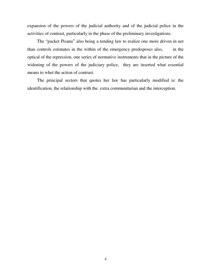 Anteprima della tesi: Terrorism and Italian Legislation: the law 155/2005, Pagina 3