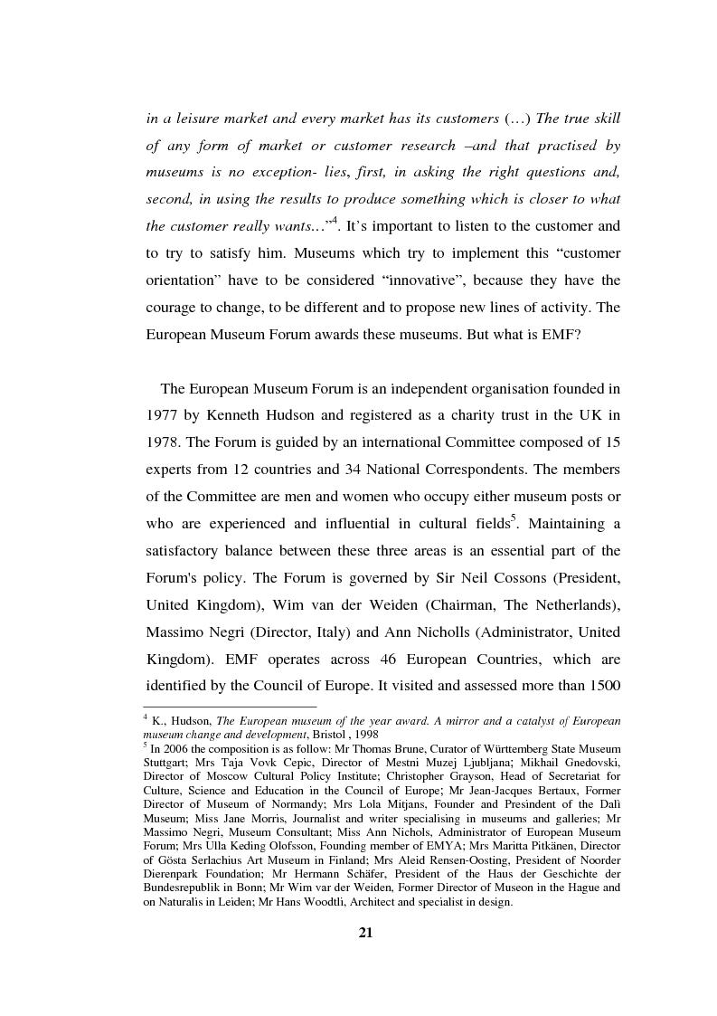 Anteprima della tesi: Going Digital: the European Museum Forum Experience within the European Union BRICKS Project, Pagina 8