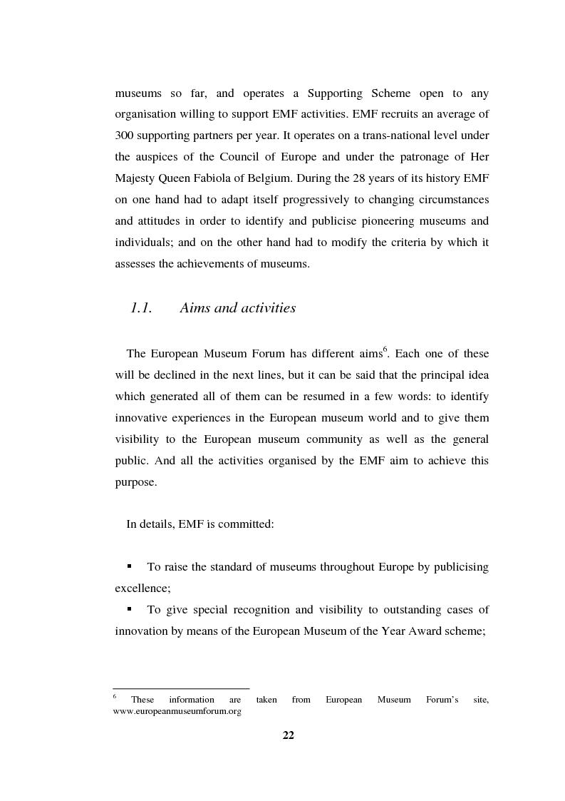 Anteprima della tesi: Going Digital: the European Museum Forum Experience within the European Union BRICKS Project, Pagina 9