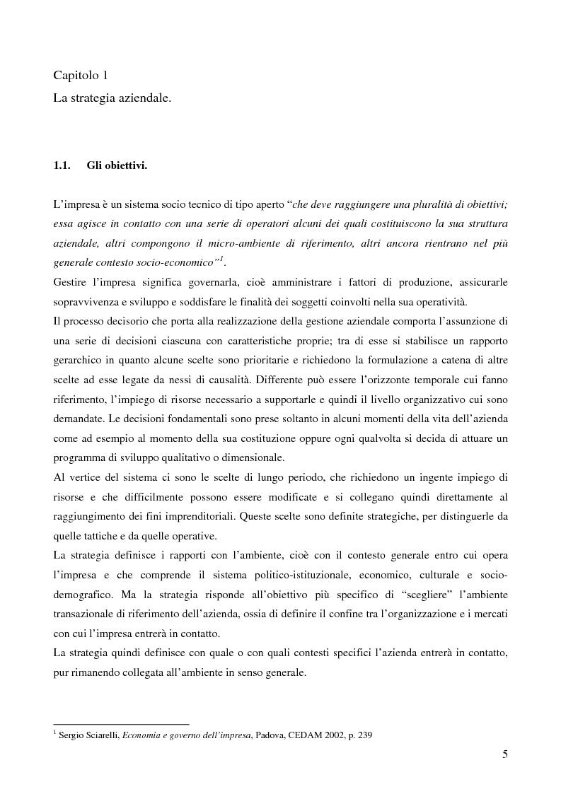 Anteprima della tesi: Le strategie di crescita e sviluppo dimensionale. Il caso Consip S.p.a., Pagina 2
