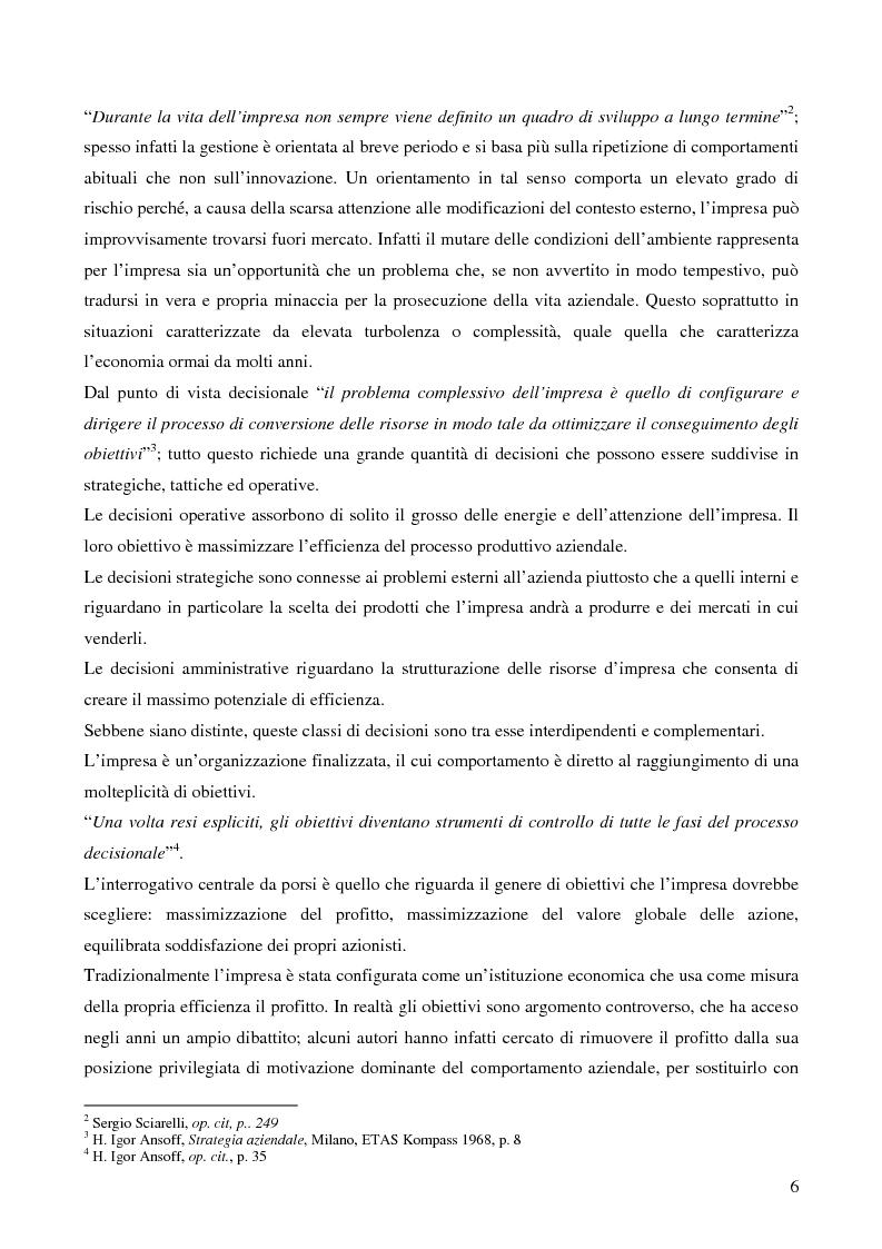 Anteprima della tesi: Le strategie di crescita e sviluppo dimensionale. Il caso Consip S.p.a., Pagina 3