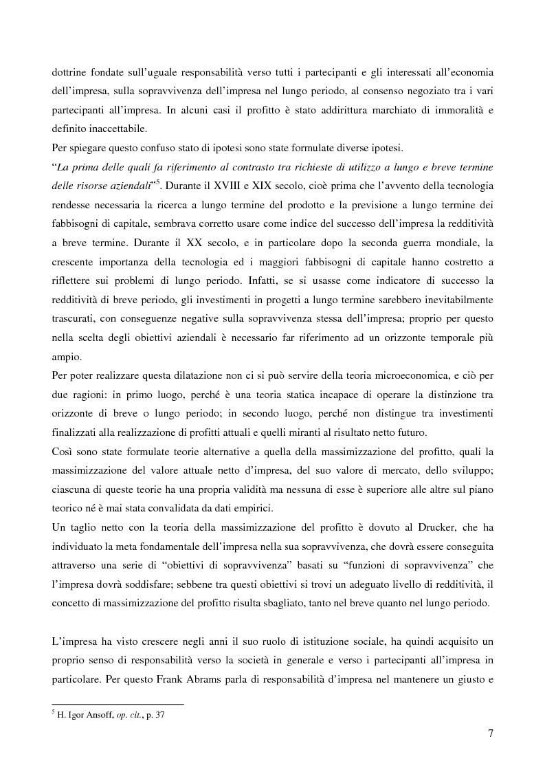 Anteprima della tesi: Le strategie di crescita e sviluppo dimensionale. Il caso Consip S.p.a., Pagina 4