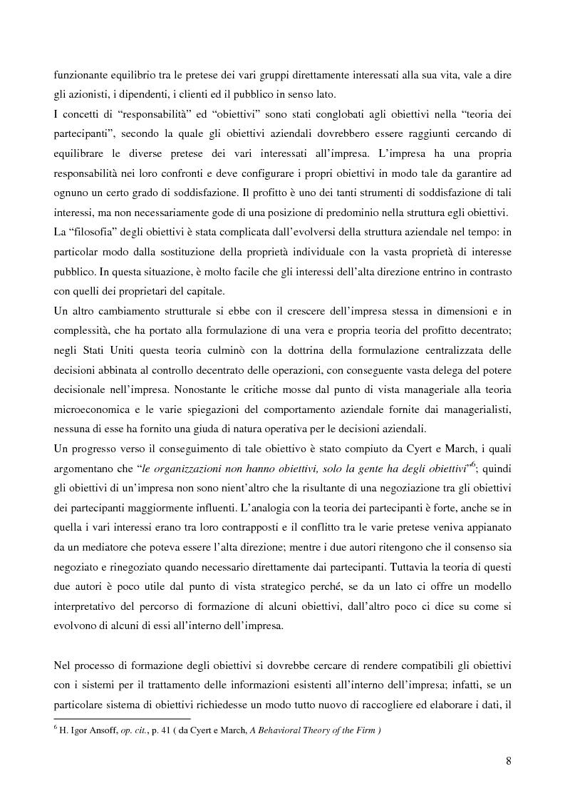 Anteprima della tesi: Le strategie di crescita e sviluppo dimensionale. Il caso Consip S.p.a., Pagina 5