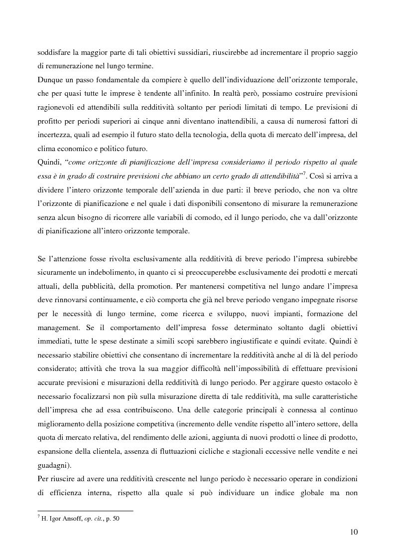 Anteprima della tesi: Le strategie di crescita e sviluppo dimensionale. Il caso Consip S.p.a., Pagina 7