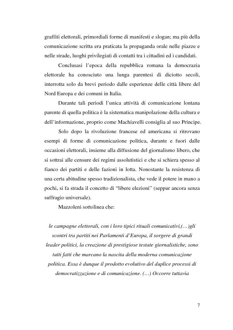 Anteprima della tesi: La comunicazione politica: tra propaganda, pubblicità e marketing, Pagina 5