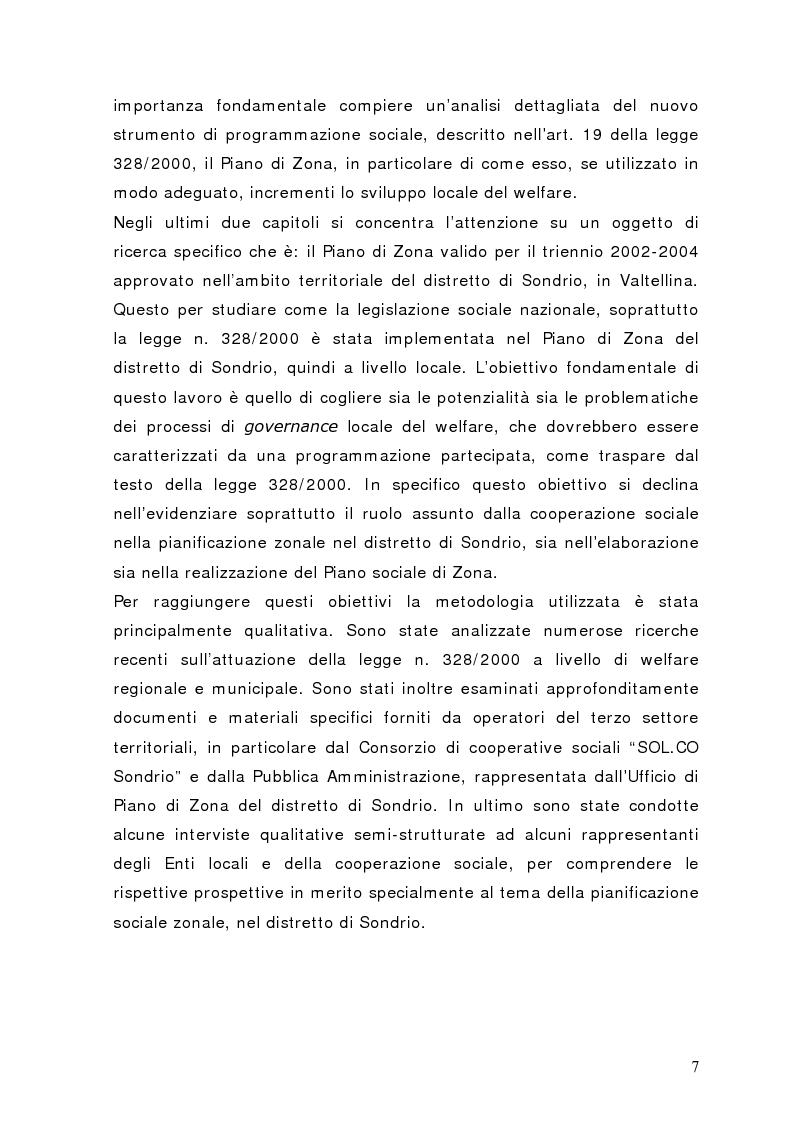 Anteprima della tesi: Fra governance e programmazione partecipata: il Piano Sociale di Zona nel distretto di Sondrio, Pagina 2