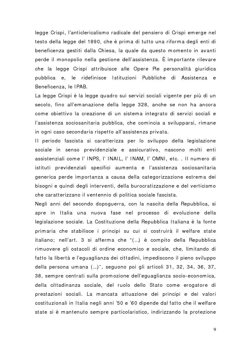 Anteprima della tesi: Fra governance e programmazione partecipata: il Piano Sociale di Zona nel distretto di Sondrio, Pagina 4