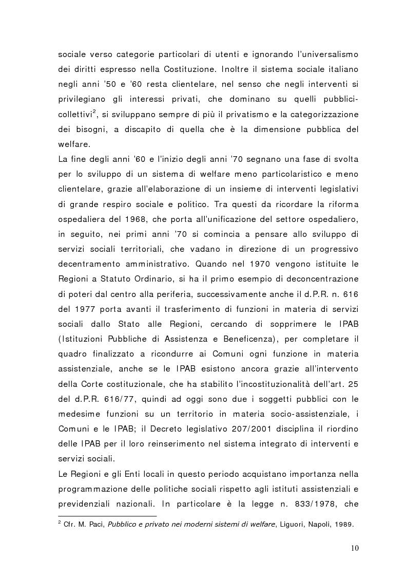 Anteprima della tesi: Fra governance e programmazione partecipata: il Piano Sociale di Zona nel distretto di Sondrio, Pagina 5