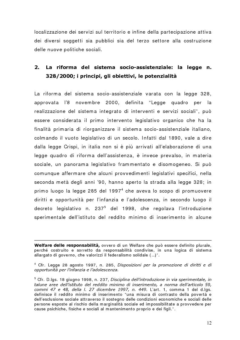 Anteprima della tesi: Fra governance e programmazione partecipata: il Piano Sociale di Zona nel distretto di Sondrio, Pagina 7