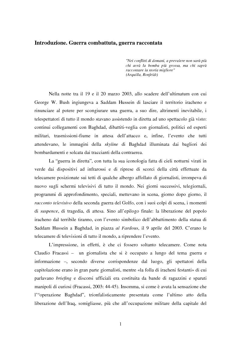 Anteprima della tesi: Come si racconta una guerra. Analisi semiotica dei discorsi di George W. Bush durante la guerra in Iraq., Pagina 1
