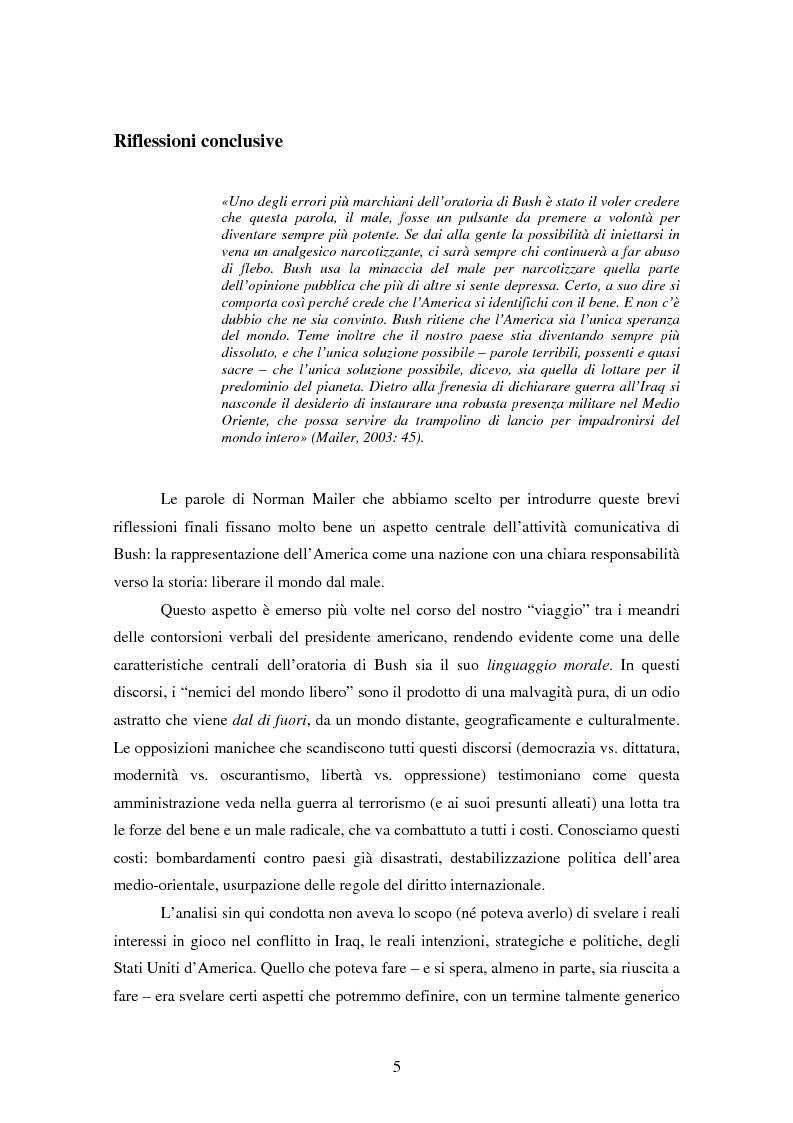 Anteprima della tesi: Come si racconta una guerra. Analisi semiotica dei discorsi di George W. Bush durante la guerra in Iraq., Pagina 5