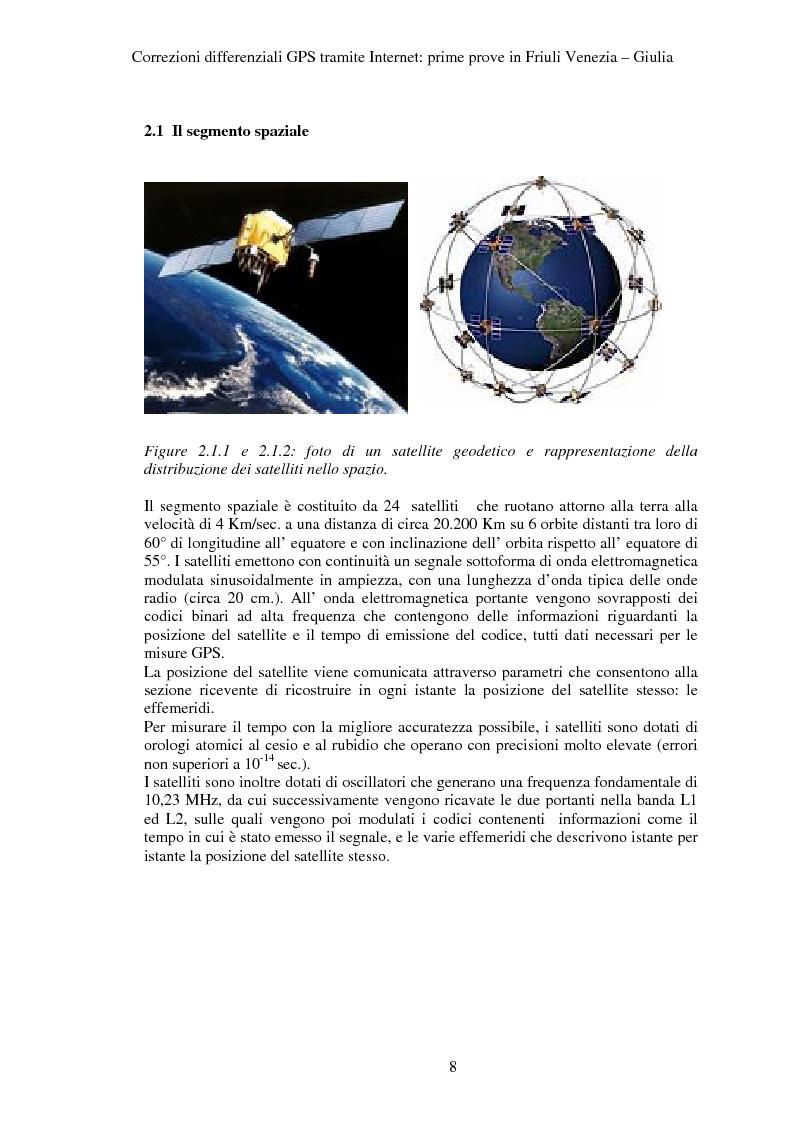 Anteprima della tesi: Correzioni GPS differenziali tramite internet, prime prove in Friuli Venezia Giulia, Pagina 5
