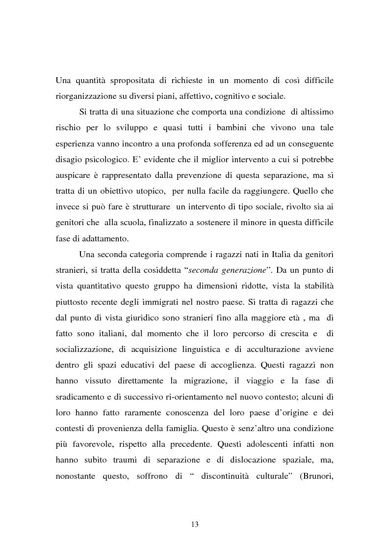 Anteprima della tesi: L'integrazione dei ragazzi stranieri a scuola: dalla multiculturalità all'interculturalità, Pagina 10