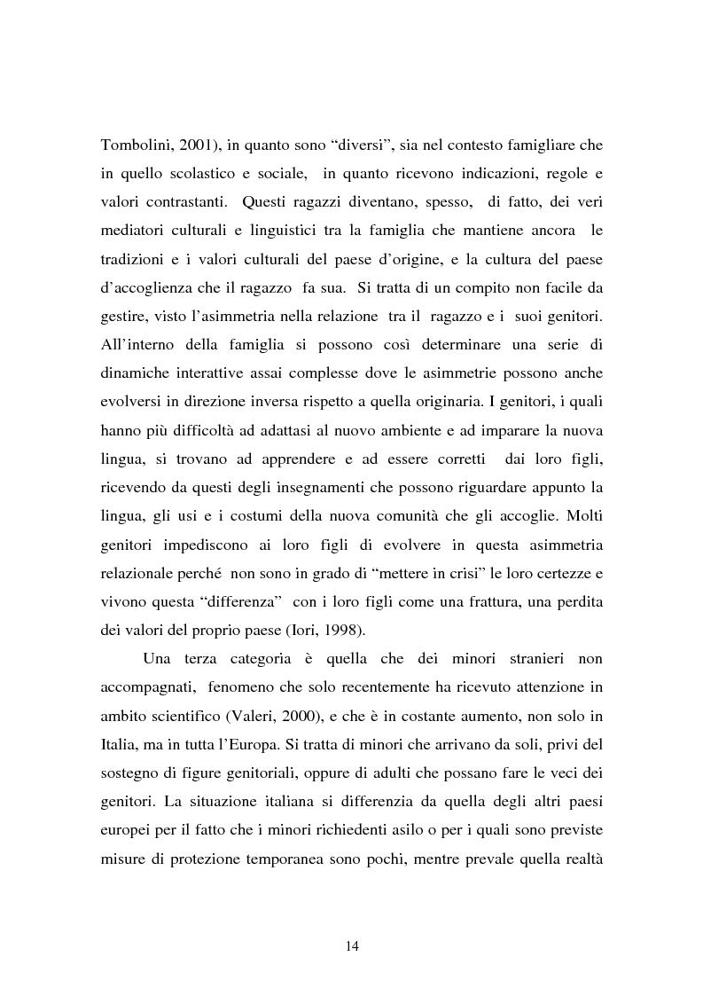Anteprima della tesi: L'integrazione dei ragazzi stranieri a scuola: dalla multiculturalità all'interculturalità, Pagina 11