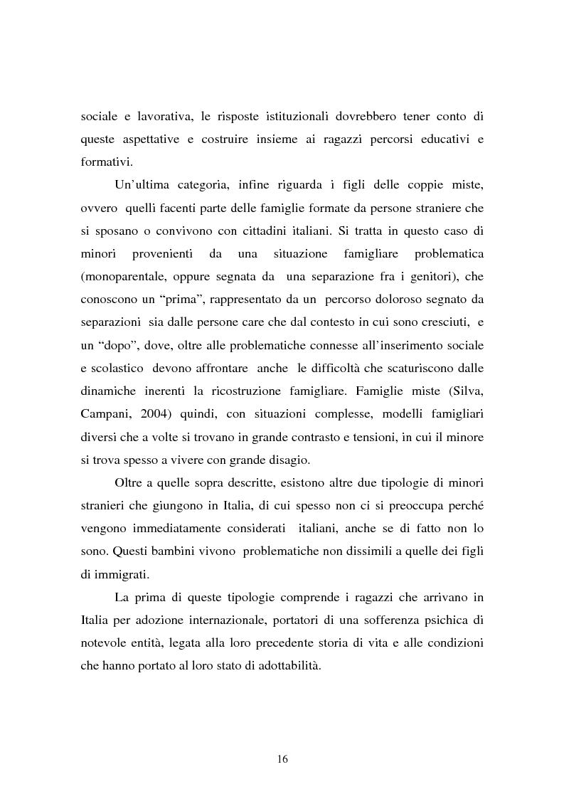 Anteprima della tesi: L'integrazione dei ragazzi stranieri a scuola: dalla multiculturalità all'interculturalità, Pagina 13