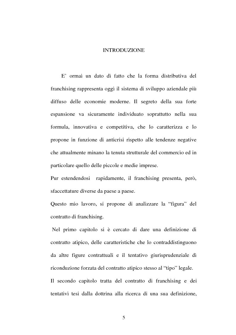 Anteprima della tesi: Il contratto di Franchising, Pagina 1