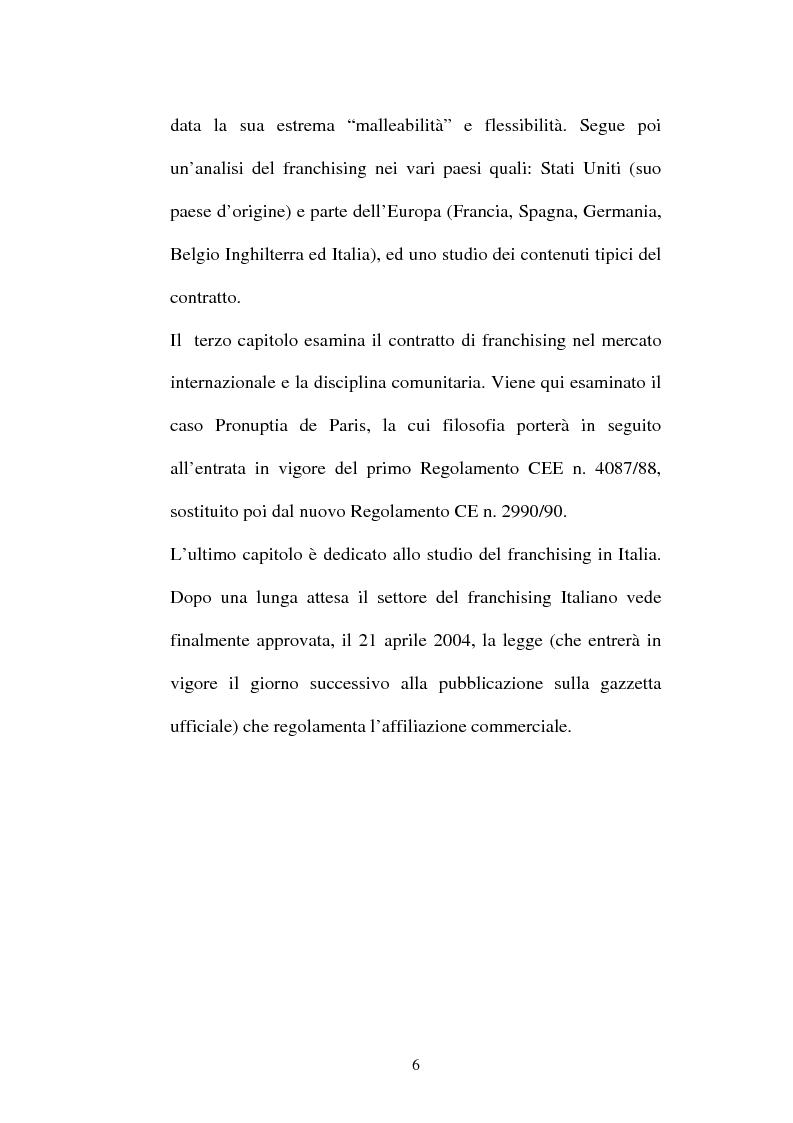 Anteprima della tesi: Il contratto di Franchising, Pagina 2