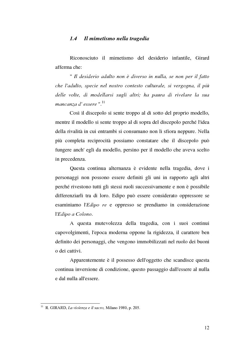 Anteprima della tesi: René Girard e la storia delle religioni: mimetismo e meccanismo vittimario, Pagina 12