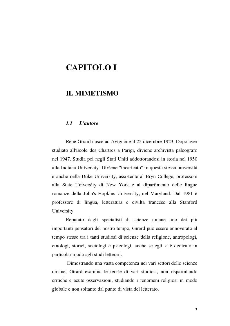 Anteprima della tesi: René Girard e la storia delle religioni: mimetismo e meccanismo vittimario, Pagina 3