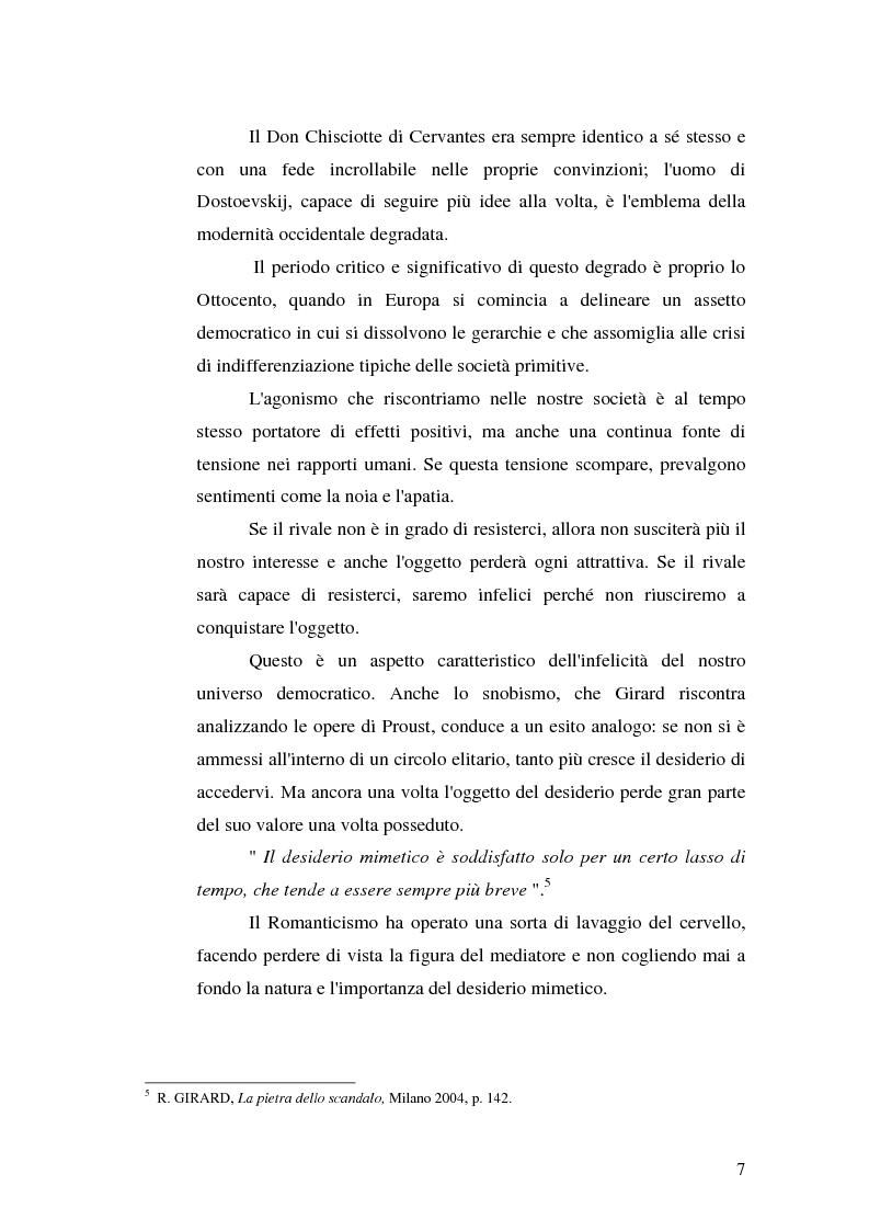 Anteprima della tesi: René Girard e la storia delle religioni: mimetismo e meccanismo vittimario, Pagina 7