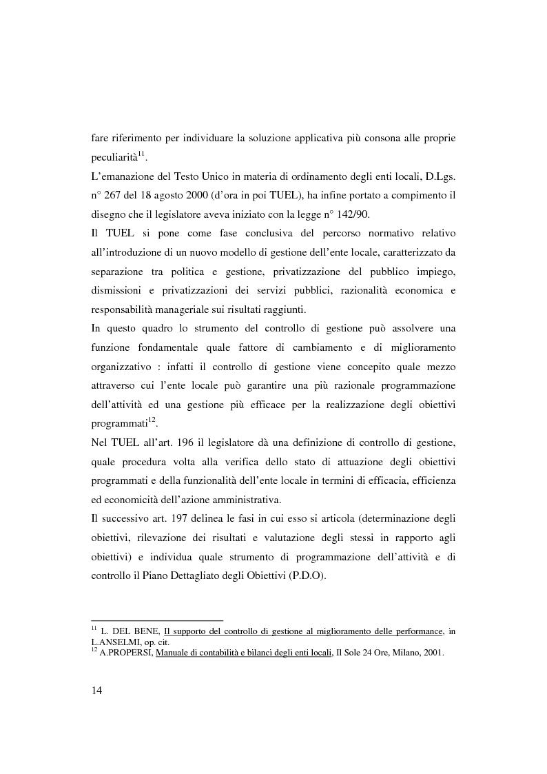 Anteprima della tesi: Bilancio sociale e sistemi di programmazione e controllo negli enti locali, Pagina 11