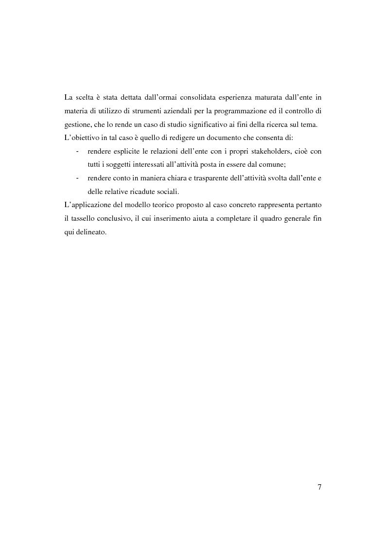 Anteprima della tesi: Bilancio sociale e sistemi di programmazione e controllo negli enti locali, Pagina 4