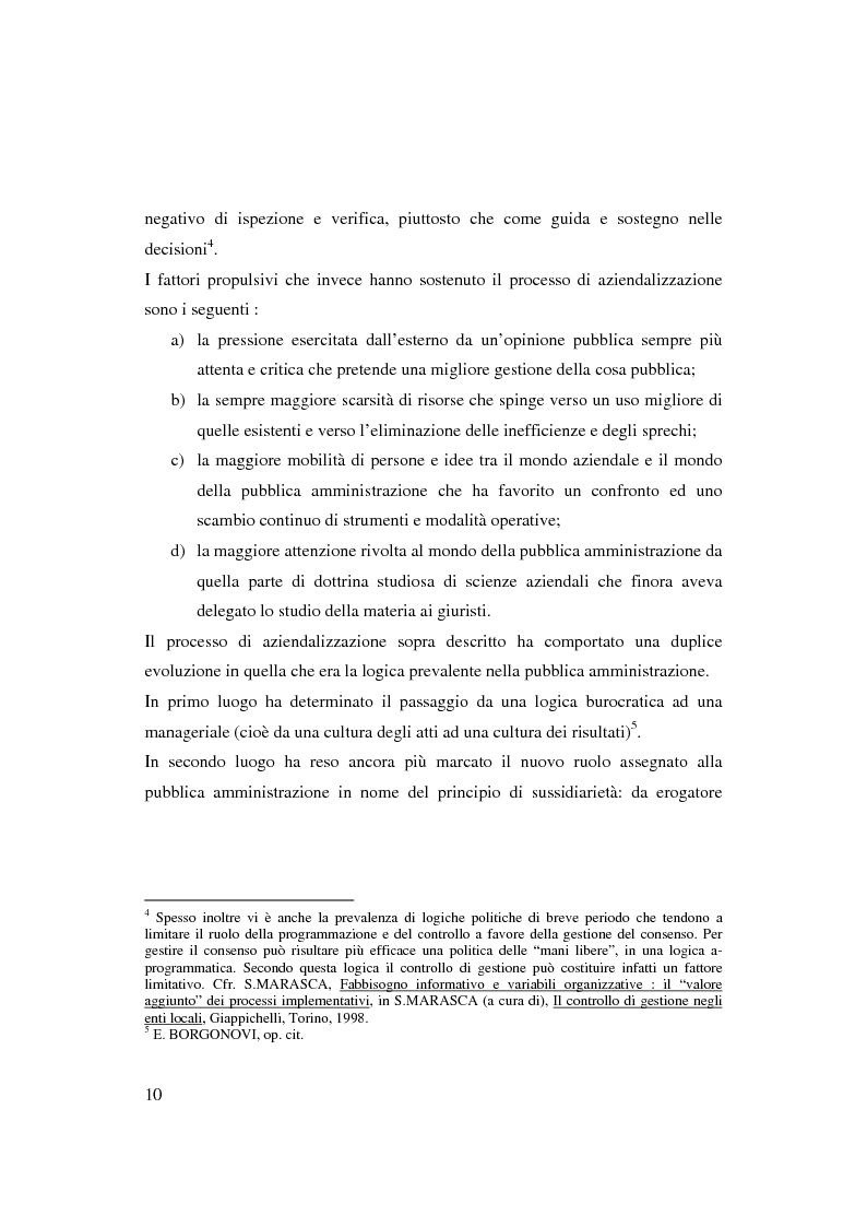 Anteprima della tesi: Bilancio sociale e sistemi di programmazione e controllo negli enti locali, Pagina 7