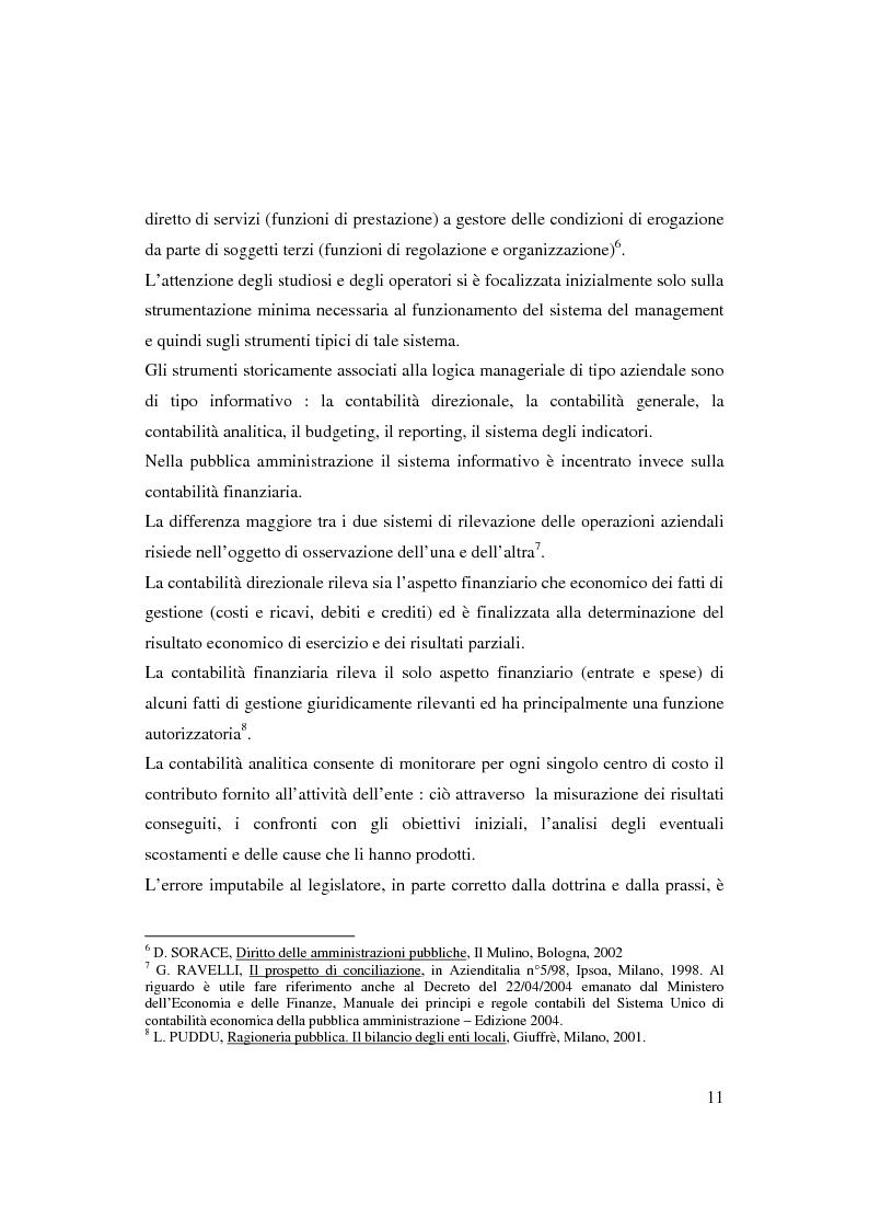 Anteprima della tesi: Bilancio sociale e sistemi di programmazione e controllo negli enti locali, Pagina 8