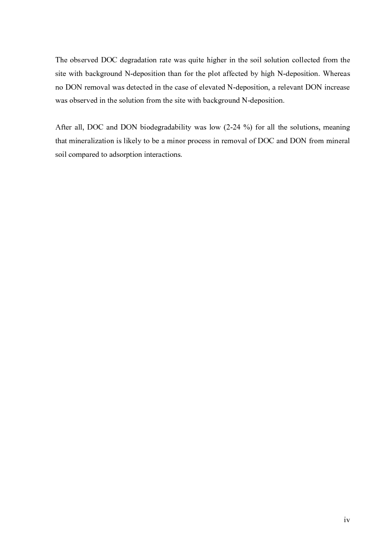 Anteprima della tesi: Mineralization of dissolved organic carbon (DOC) and nitrogen (DON) in the soil solution of different forested stands in Flanders, Pagina 2
