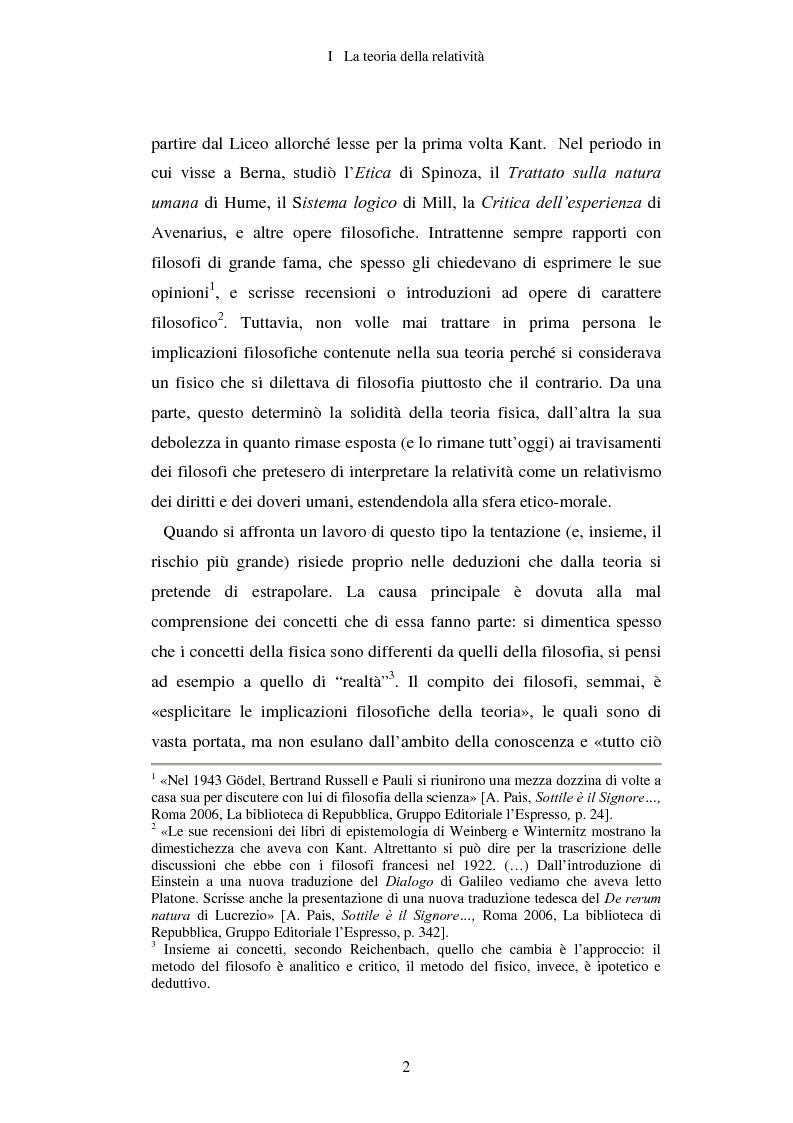 Anteprima della tesi: Epistemologia senza dogmi. Scienza e filosofia in A. Einstein, Pagina 5