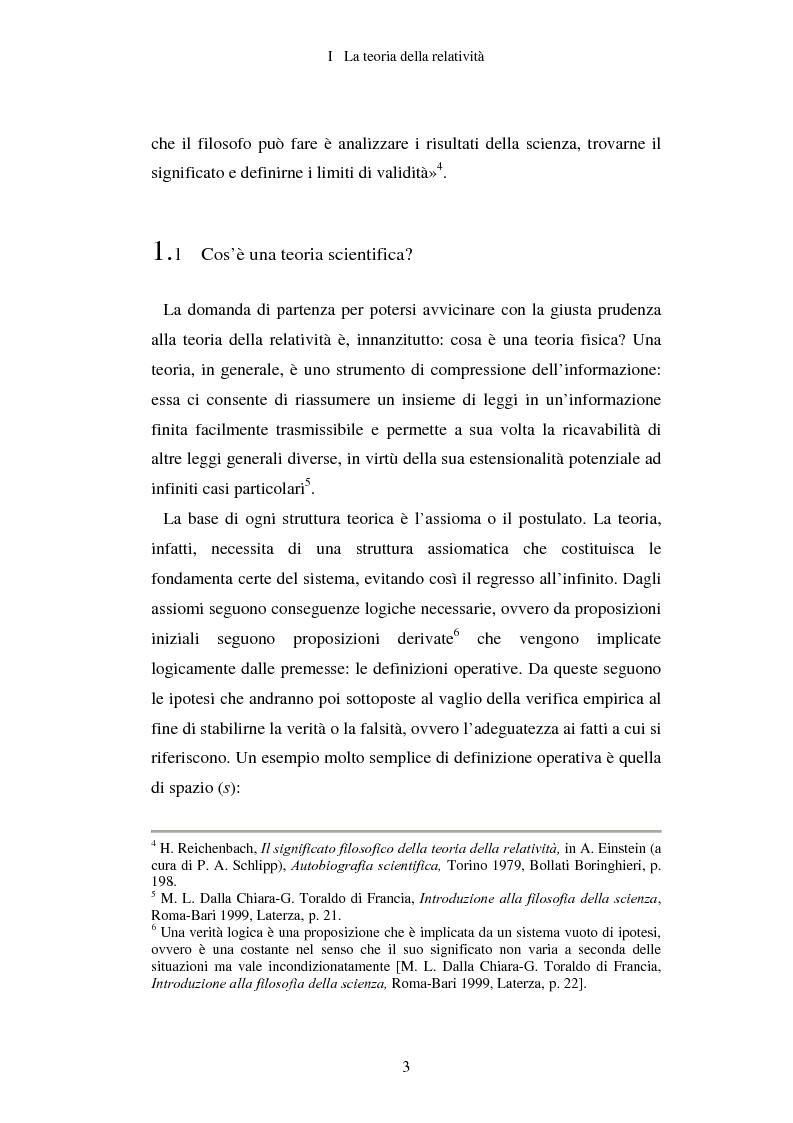 Anteprima della tesi: Epistemologia senza dogmi. Scienza e filosofia in A. Einstein, Pagina 6