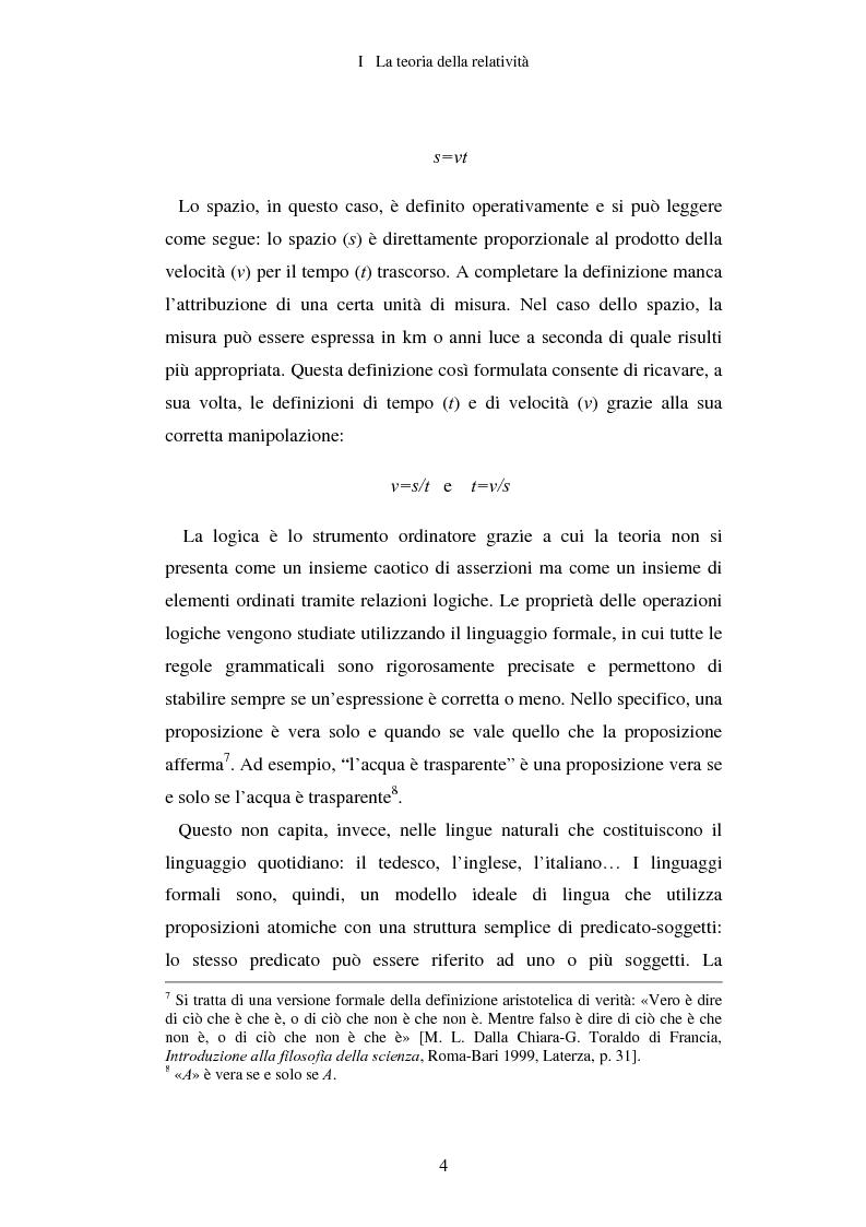 Anteprima della tesi: Epistemologia senza dogmi. Scienza e filosofia in A. Einstein, Pagina 7
