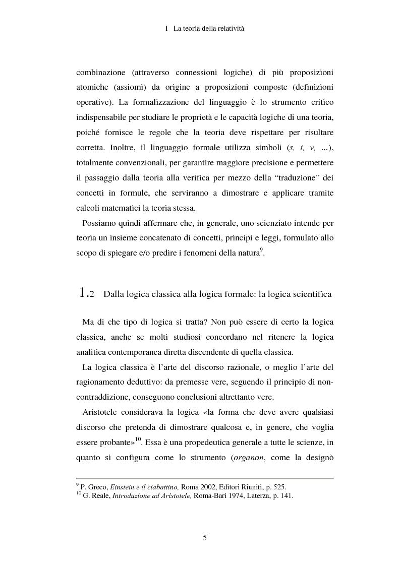 Anteprima della tesi: Epistemologia senza dogmi. Scienza e filosofia in A. Einstein, Pagina 8