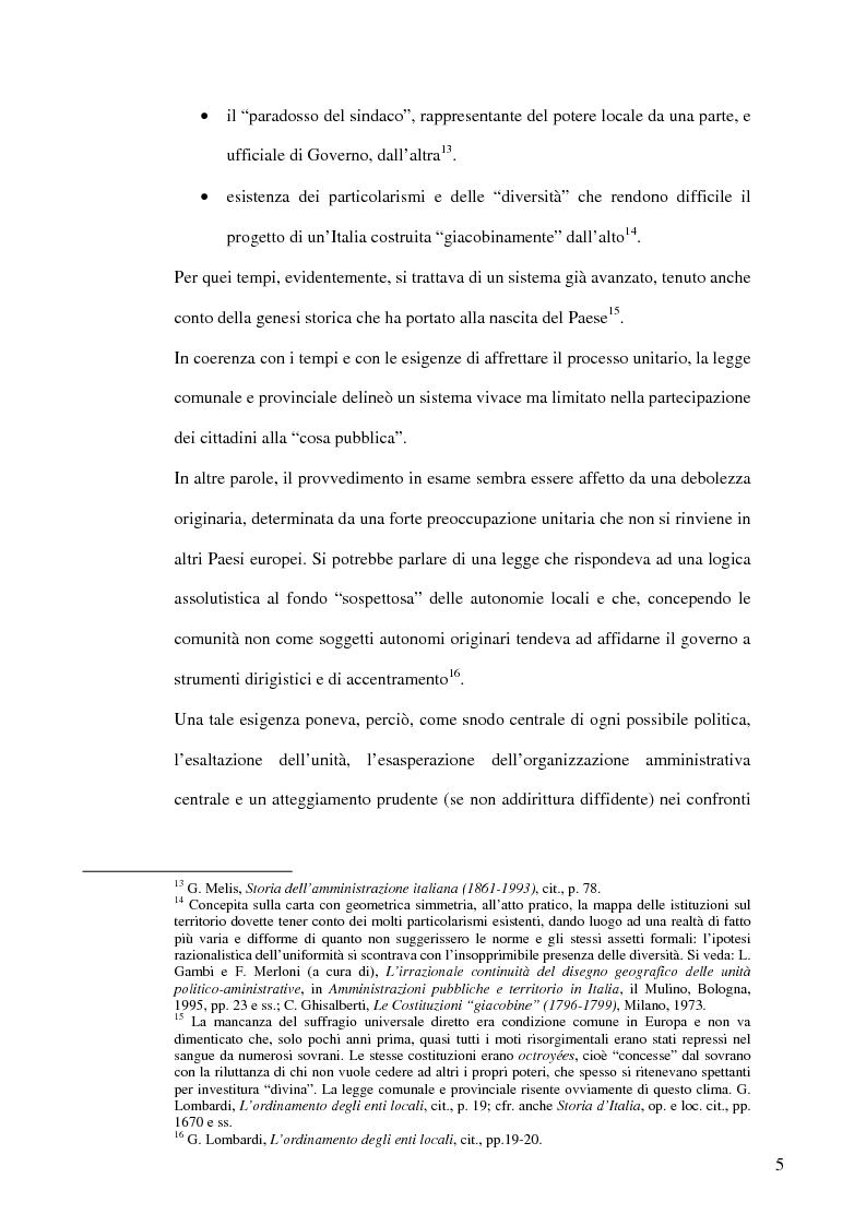 Anteprima della tesi: Associazionismo comunale e competitività territoriale. La gestione consortile dei servizi., Pagina 11