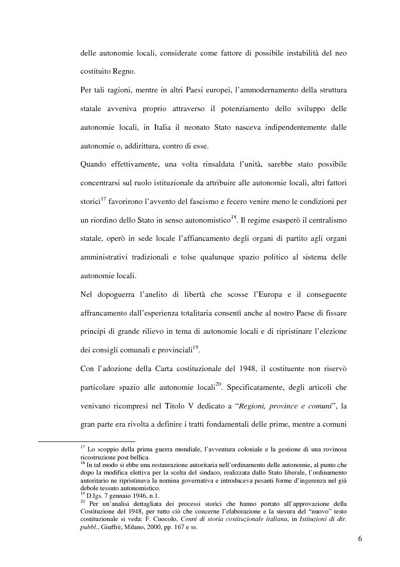 Anteprima della tesi: Associazionismo comunale e competitività territoriale. La gestione consortile dei servizi., Pagina 12