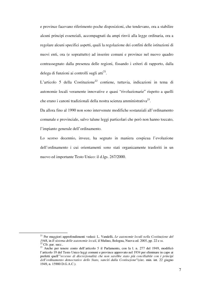 Anteprima della tesi: Associazionismo comunale e competitività territoriale. La gestione consortile dei servizi., Pagina 13