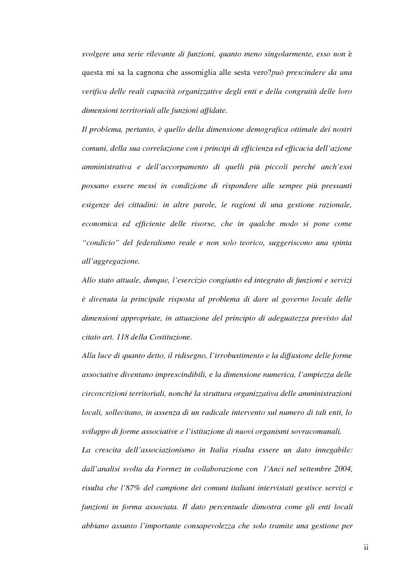 Anteprima della tesi: Associazionismo comunale e competitività territoriale. La gestione consortile dei servizi., Pagina 2