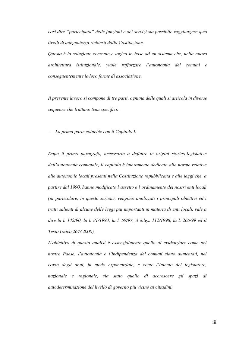 Anteprima della tesi: Associazionismo comunale e competitività territoriale. La gestione consortile dei servizi., Pagina 3