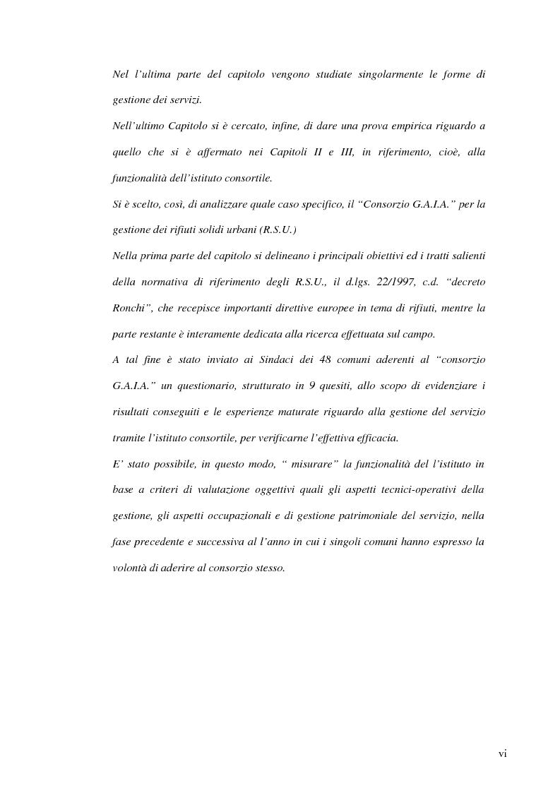 Anteprima della tesi: Associazionismo comunale e competitività territoriale. La gestione consortile dei servizi., Pagina 6