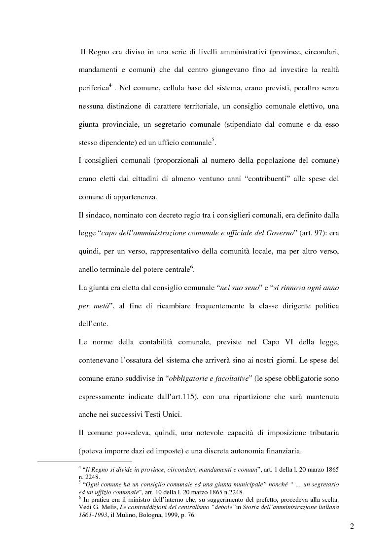Anteprima della tesi: Associazionismo comunale e competitività territoriale. La gestione consortile dei servizi., Pagina 8