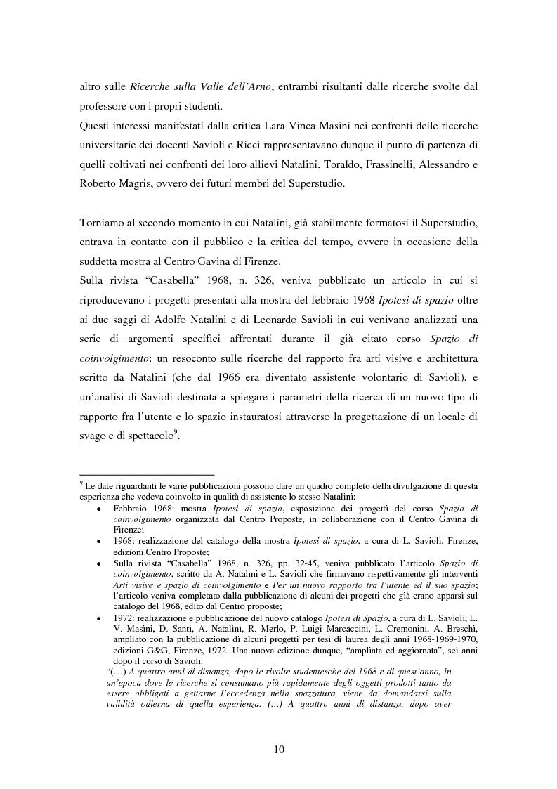 Anteprima della tesi: Superstudio - Progetti e pensieri 1966-1978, Pagina 10