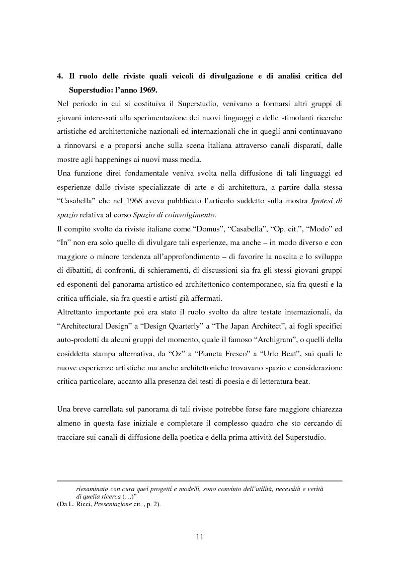 Anteprima della tesi: Superstudio - Progetti e pensieri 1966-1978, Pagina 11