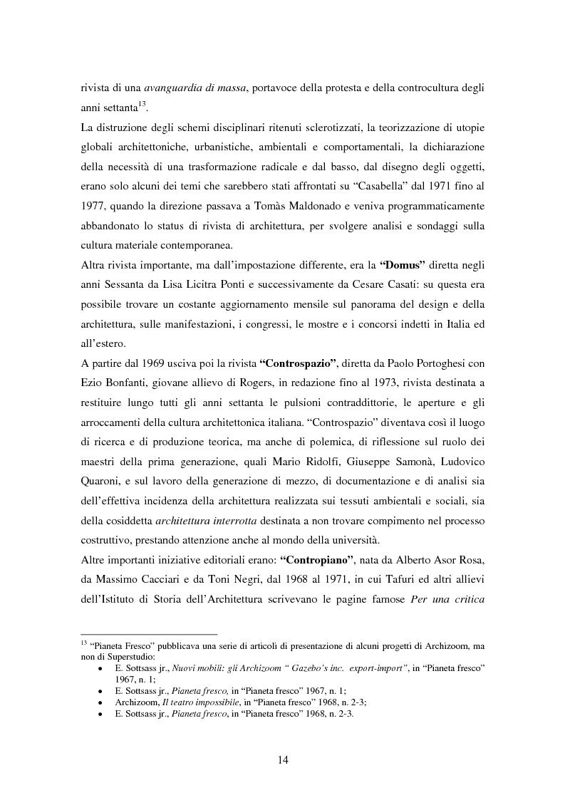 Anteprima della tesi: Superstudio - Progetti e pensieri 1966-1978, Pagina 14