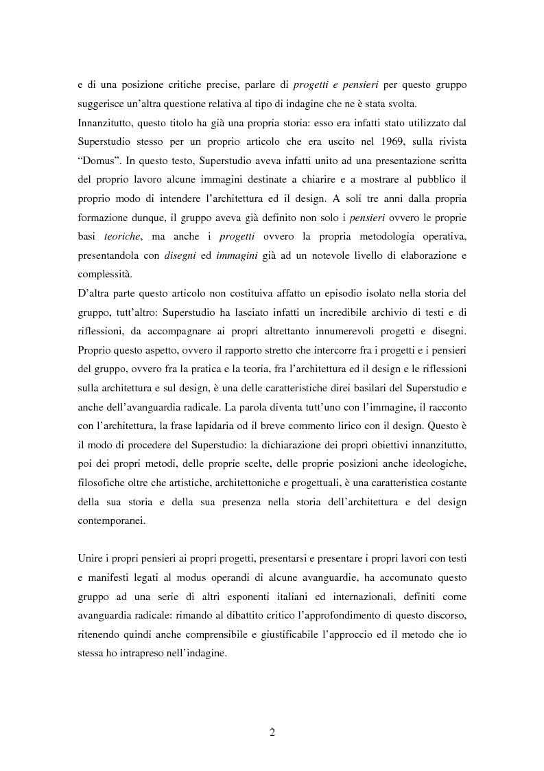 Anteprima della tesi: Superstudio - Progetti e pensieri 1966-1978, Pagina 2