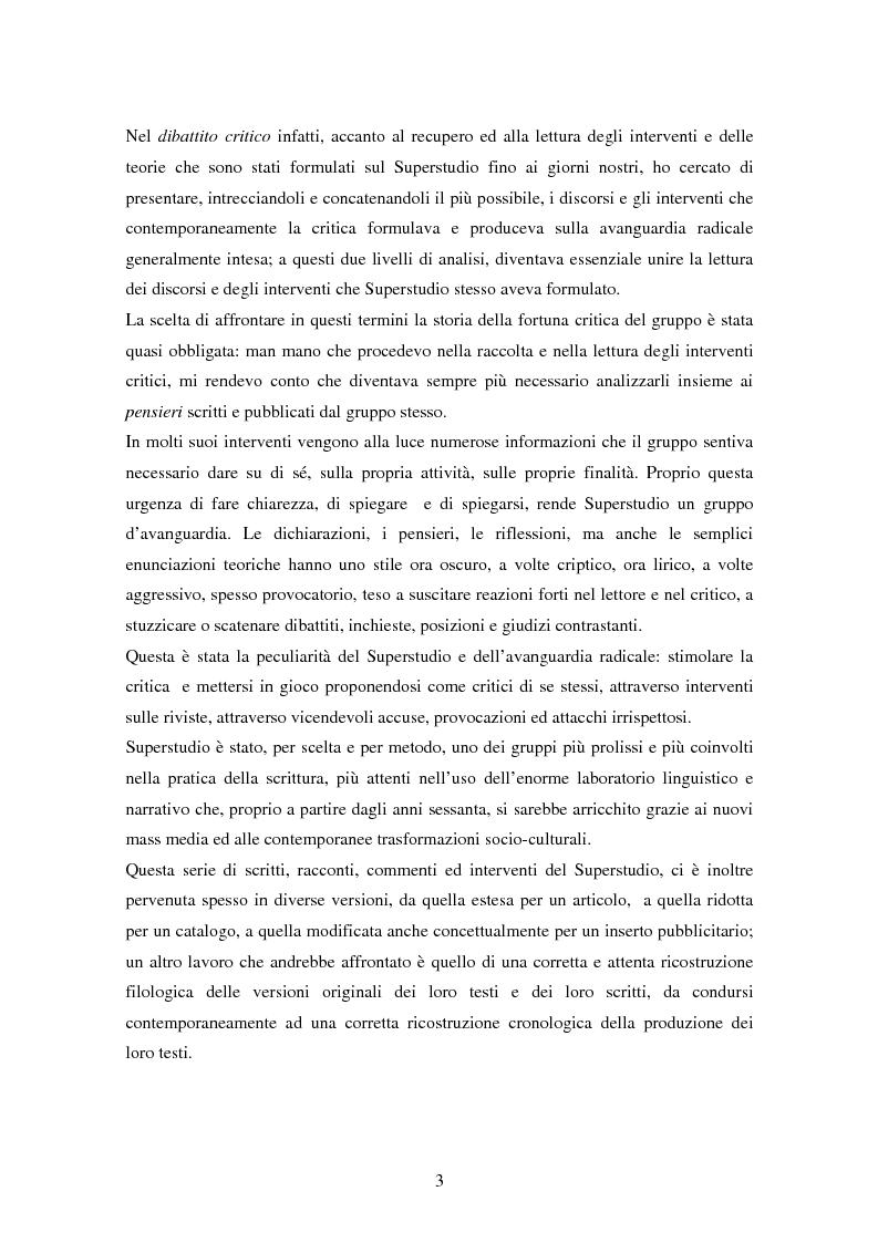 Anteprima della tesi: Superstudio - Progetti e pensieri 1966-1978, Pagina 3