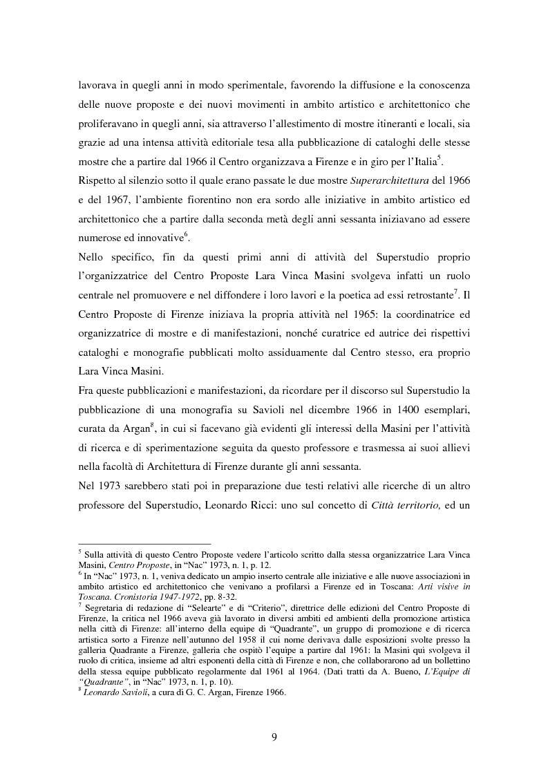 Anteprima della tesi: Superstudio - Progetti e pensieri 1966-1978, Pagina 9
