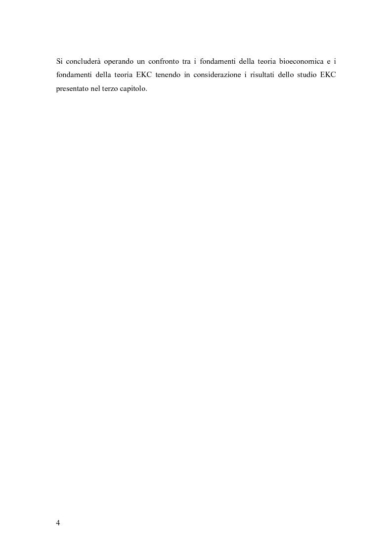 Anteprima della tesi: Teoria bioeconomica e curva di Kuznets ambientale: i flussi di materiale nell'economia statunitense, Pagina 4