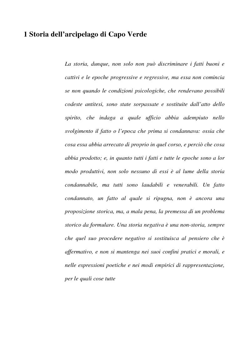 Anteprima della tesi: Il Creolo: lingua madre, simbolo dell'identità culturale nazionale del popolo capoverdiano, Pagina 1